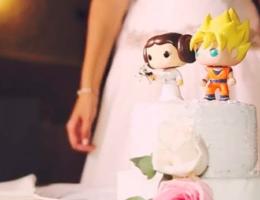 wedding planner, tarta boda, goku, leia, tarta personalizada, tocadosyeventos, organización de eventos, bodas personalizadas, ciudad real, málaga,
