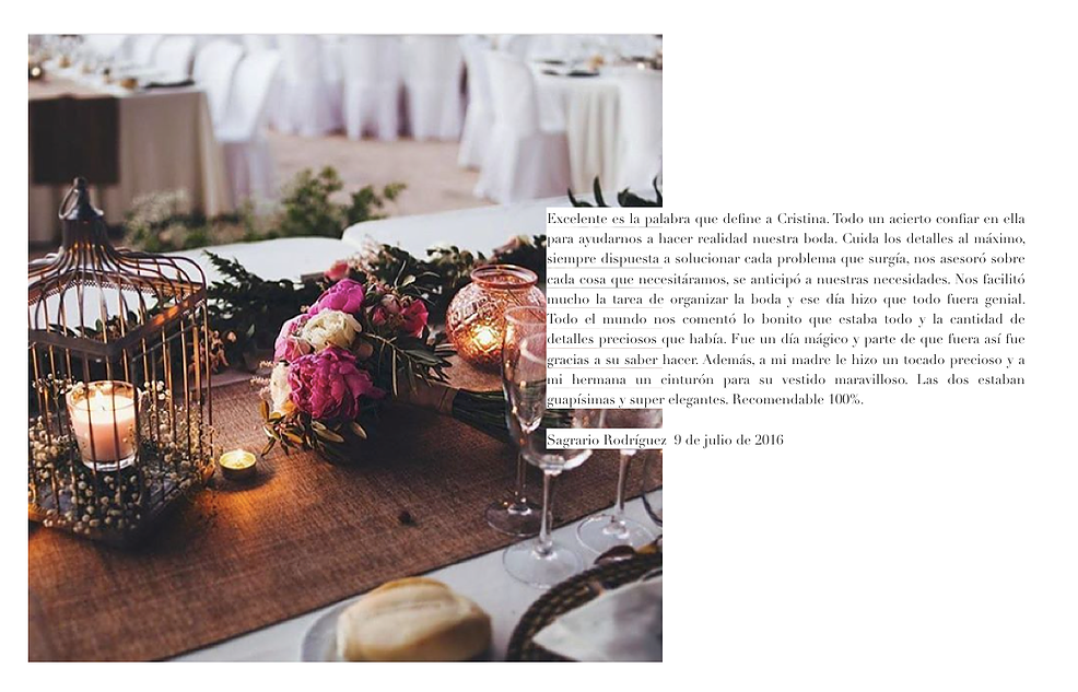 Wedding planner, málaga, ciudad real, opiniones